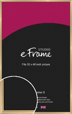 Welcoming Natural Wood Picture Frame, 30x48