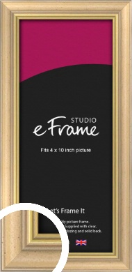 Welcoming Natural Wood Picture Frame, 4x10