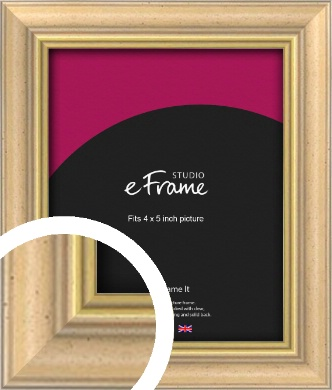 Welcoming Natural Wood Picture Frame, 4x5