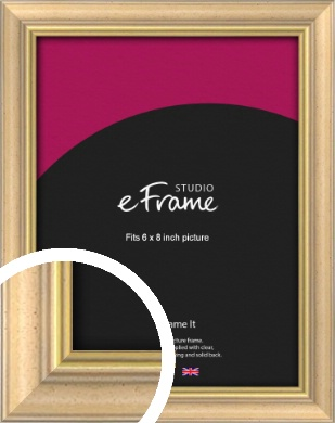 Welcoming Natural Wood Picture Frame, 6x8