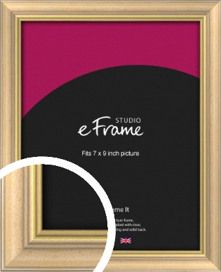 Welcoming Natural Wood Picture Frame, 7x9