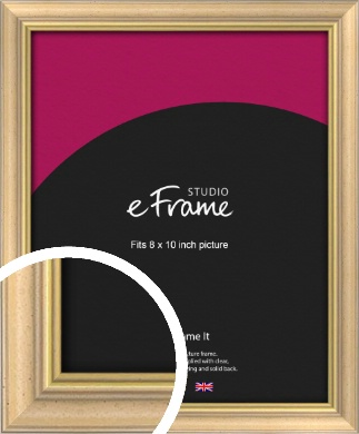 Welcoming Natural Wood Picture Frame, 8x10