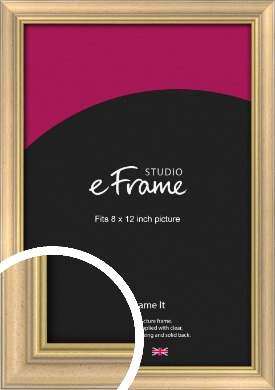 Welcoming Natural Wood Picture Frame, 8x12