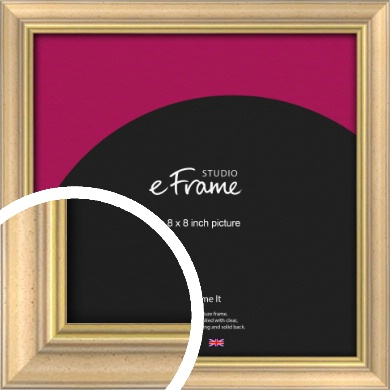 Welcoming Natural Wood Picture Frame, 8x8