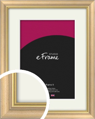 Welcoming Natural Wood Picture Frame & Mount (VRMP-357-M)
