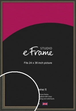 Tonal Grey Picture Frame, 24x36
