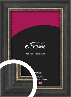 Retro Distressed Black Picture Frame, 10x15cm (4x6