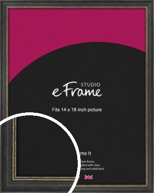 Retro Distressed Black Picture Frame, 14x18