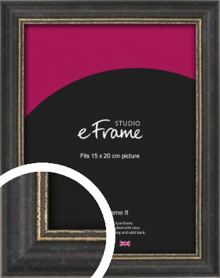 Retro Distressed Black Picture Frame, 15x20cm (6x8