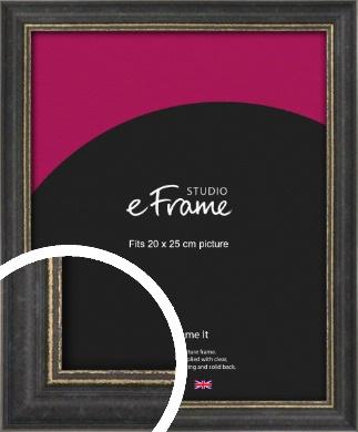 Retro Distressed Black Picture Frame, 20x25cm (8x10