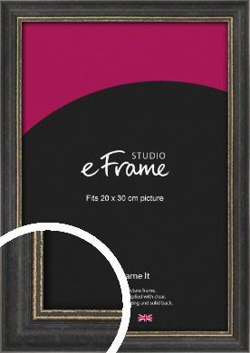 Retro Distressed Black Picture Frame, 20x30cm (8x12