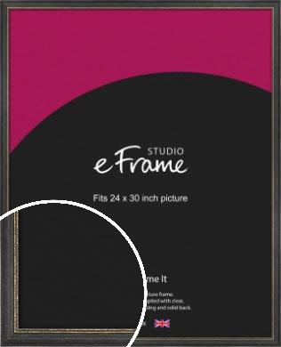 Retro Distressed Black Picture Frame, 24x30