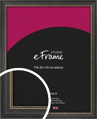 Retro Distressed Black Picture Frame, 28x35cm (VRMP-356-28x35cm)