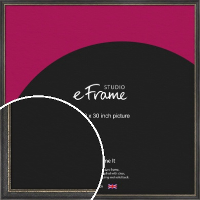 Retro Distressed Black Picture Frame, 30x30