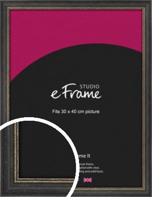 Retro Distressed Black Picture Frame, 30x40cm (VRMP-356-30x40cm)