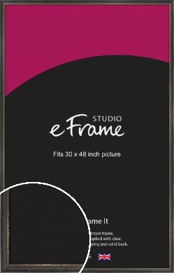 Retro Distressed Black Picture Frame, 30x48