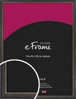 Retro Distressed Black Picture Frame, 45x60cm (VRMP-356-45x60cm)