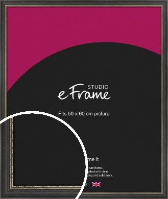 Retro Distressed Black Picture Frame, 50x60cm (VRMP-356-50x60cm)