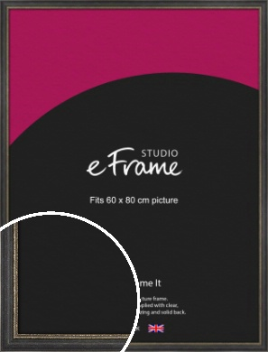 Retro Distressed Black Picture Frame, 60x80cm (VRMP-356-60x80cm)