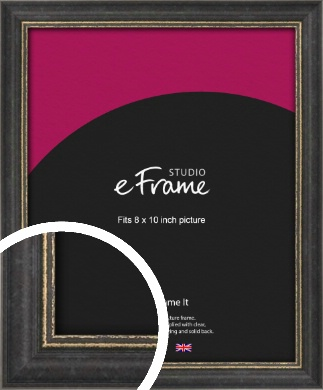 Retro Distressed Black Picture Frame, 8x10