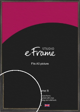 Retro Distressed Black Picture Frame, A0 (841x1189mm) (VRMP-356-A0)