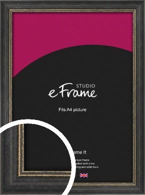 Retro Distressed Black Picture Frame, A4 (210x297mm) (VRMP-356-A4)
