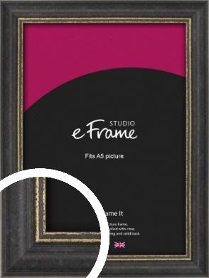 Retro Distressed Black Picture Frame, A5 (148x210mm) (VRMP-356-A5)