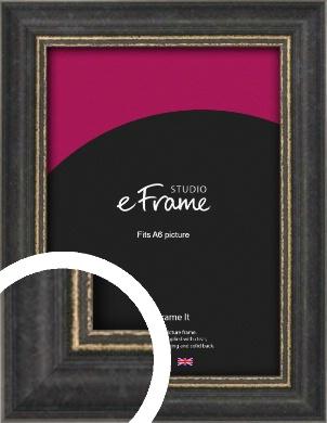 Retro Distressed Black Picture Frame, A6 (105x148mm) (VRMP-356-A6)