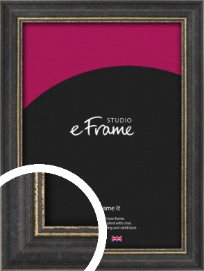 Retro Distressed Black Picture Frame (VRMP-356)