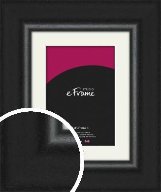 Sweeping Black Picture Frame & Mount (VRMP-1283-M)