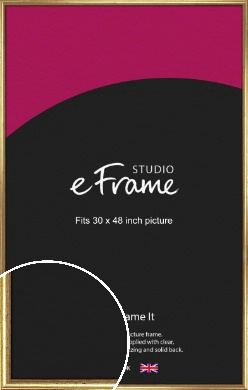 Rounded Aged Gold Picture Frame, 30x48