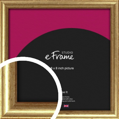 Rounded Aged Gold Picture Frame, 8x8