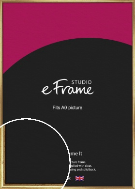 Rounded Aged Gold Picture Frame, A0 (841x1189mm) (VRMP-121-A0)