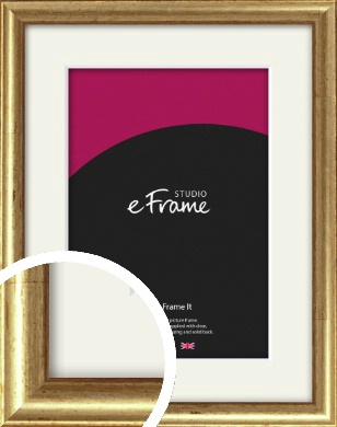 Rounded Aged Gold Picture Frame & Mount (VRMP-121-M)