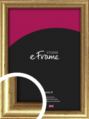 Rounded Aged Gold Picture Frame (VRMP-121)
