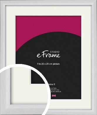 Narrow Bevelled Fresh White Picture Frame & Mount, 20x25cm (8x10