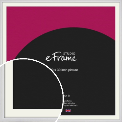 Narrow Bevelled Fresh White Picture Frame & Mount, 30x30