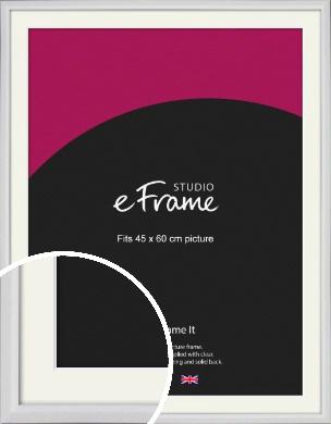 Narrow Bevelled Fresh White Picture Frame & Mount, 45x60cm (VRMP-1284-M-45x60cm)