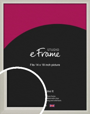 Narrow Chamfered Faded Cream Picture Frame, 14x18