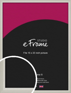 Narrow Chamfered Faded Cream Picture Frame, 15x20
