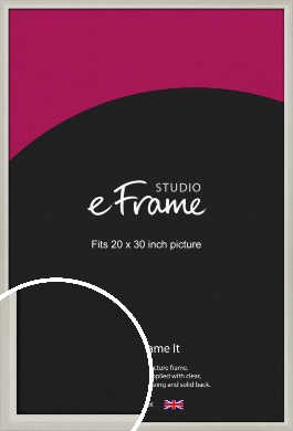 Narrow Chamfered Faded Cream Picture Frame, 20x30