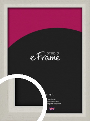 Narrow Chamfered Faded Cream Picture Frame (VRMP-1285)