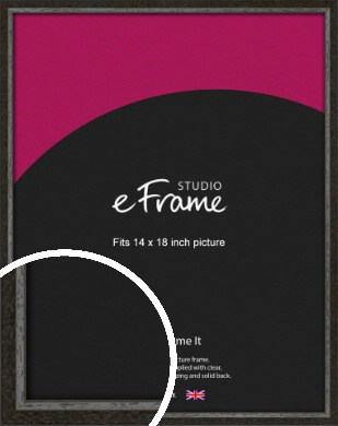 Slim Antique Brown Picture Frame, 14x18