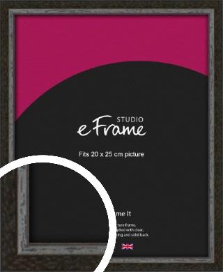Slim Antique Brown Picture Frame, 20x25cm (8x10