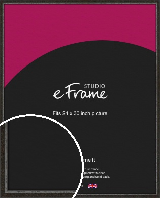 Slim Antique Brown Picture Frame, 24x30