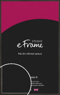 Slim Antique Brown Picture Frame, 30x48
