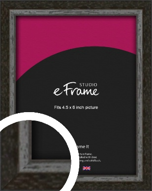 Slim Antique Brown Picture Frame, 4.5x6