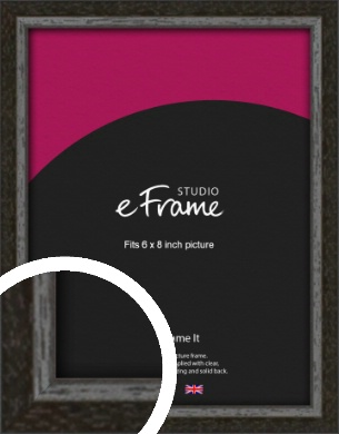 Slim Antique Brown Picture Frame, 6x8