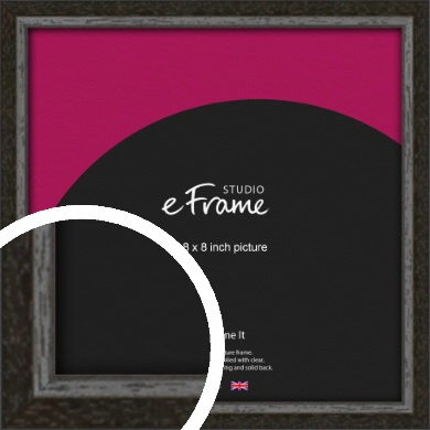 Slim Antique Brown Picture Frame, 8x8