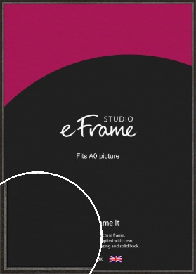 Slim Antique Brown Picture Frame, A0 (841x1189mm) (VRMP-1286-A0)